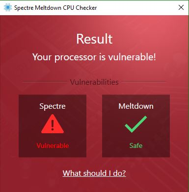 Ashampoo Specter Meltdown CPU Checker