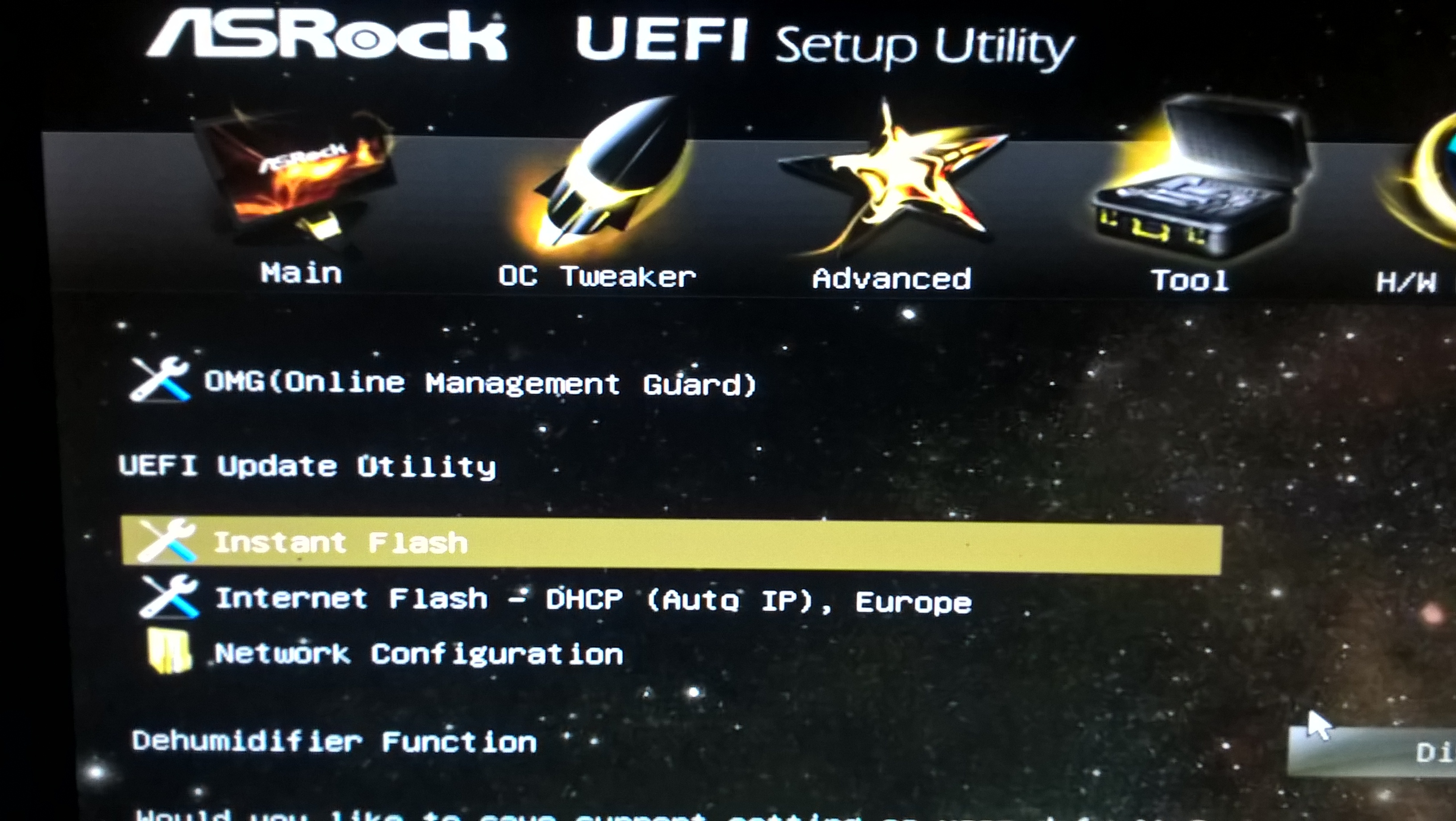Tools uefi bios instal flash