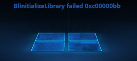 BlinitializeLibrary failed 0xc00000bb