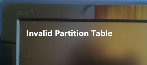ошибка Invalid Partition Table